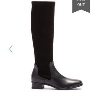 New Aquatalia Lina Black tall suede boots 6